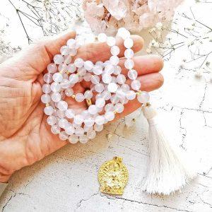 Achat Malakette, Yogaschmuck, Meditationskette, Spiritueller Schmuck, Mantraschmuck, Edelsteine, Heilsteine, Buddhistische Kette, Individuelle Malakette, Malakettenberatung,