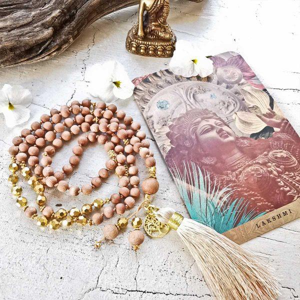 Malakette, Rosewood, Rosenholz, Yogaschmuck, Meditationskette, Spiritueller Schmuck, Mantraschmuck, Edelsteine, Heilsteine, Buddhistische Kette, Individuelle Malakette, Malakettenberatung,